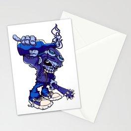 Anarchy Skeleton - Denim Stationery Cards