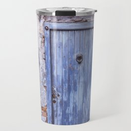 Old Blue Italian Door Travel Mug