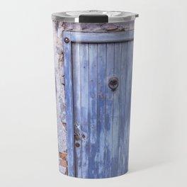 Old Blue Italian Door Travel Mug