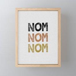 Nom Nom Nom Framed Mini Art Print