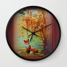 A Little Autumn Mood Wall Clock