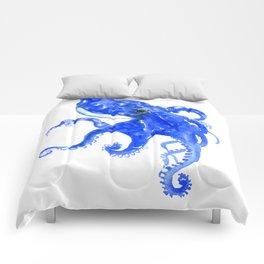 Blue Octopus Comforters