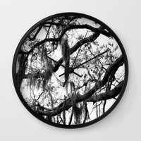 spanish Wall Clocks featuring Spanish Moss by MorganLoriPhoto