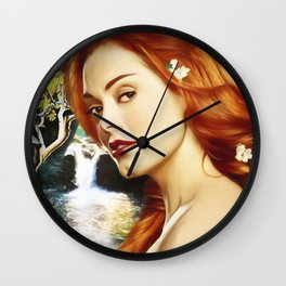 Charmed Nymph Wall Clock