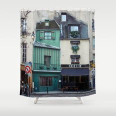 The Streets of Paris, France. Shower Curtain