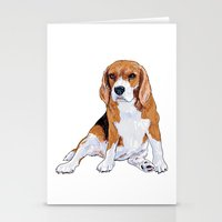 beagle Stationery Cards featuring Beagle by hadkhanong