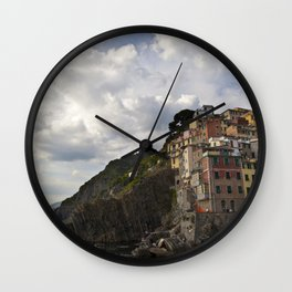 A taste of color and culture in Cinque Terre Wall Clock