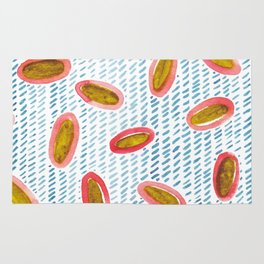 Wrapped in Happy Watercolor Pattern Rug
