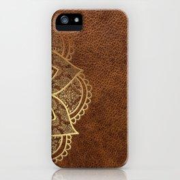 Mandala - Leather iPhone Case
