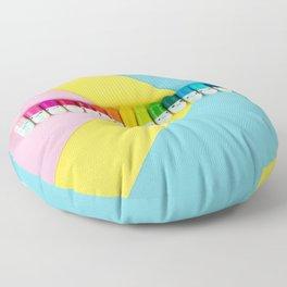 Happy little rainbow pills Floor Pillow