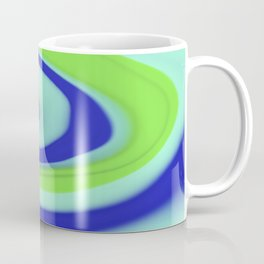 Green blue abstract pattern Coffee Mug