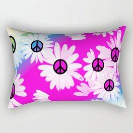 Flower Power Hippie Rectangular Pillow
