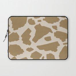 Brush strokes in brown beiges #442 Laptop Sleeve