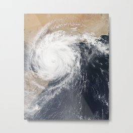 Tropical Cyclone Chapala Over the Gulf of Aden Metal Print