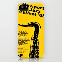 Vintage 1965 Newport, R.I Jazz Festival Advertisement Poster iPhone Case