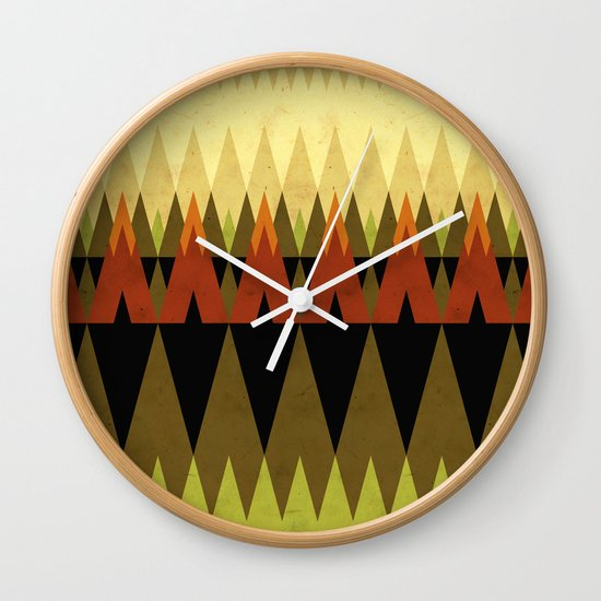 living in the woods Wall Clock