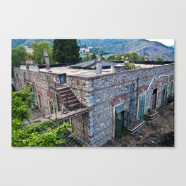 Abandoned Villa in Taormina on the Isle of Sicily Canvas Print