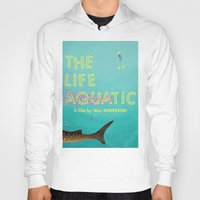 the life aquatic Hoodies featuring The Life Aquatic by Wharton