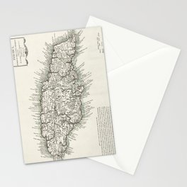 Map of Jamaica - 1780 Stationery Cards