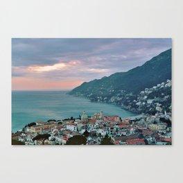 SEA LANDSCAPE IN SALERNO, ITALY. Canvas Print