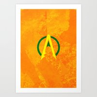 aquaman Art Prints featuring Aquaman by Some_Designs