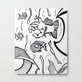 School of Fish Eyes Metal Print