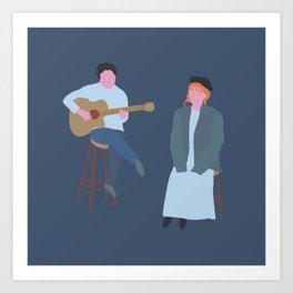Singing that song Art Print