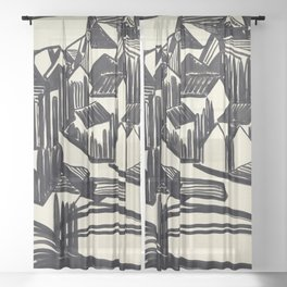 Jacoba van Heemskerck Drawing XVI Sheer Curtain