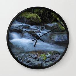 Water, Moss and Rocks Wall Clock