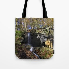 Waterfall at Lumsdale Tote Bag