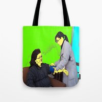doctor Tote Bags featuring Doctor by lookiz