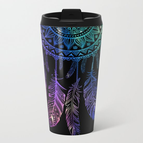 Galaxy Dreamcatcher Metal Travel Mug