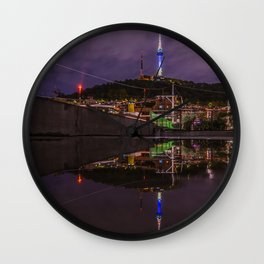 Seoul Tower Reflection Wall Clock