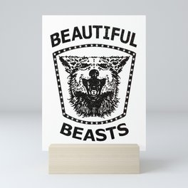 BEAUTIFUL BEASTS stamp Mini Art Print