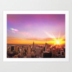NYC Skyline Art Print