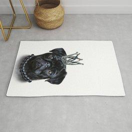 Royal Black Pug Rug