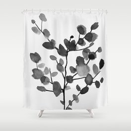 Watercolor Leaves II Shower Curtain
