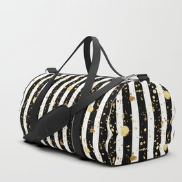 Stripes & Gold Splatter Duffle Bag