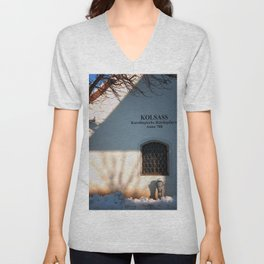 window on the wall Unisex V-Neck