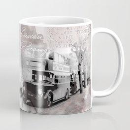 Vintage England London Britain Illustration Pastel Colors Coffee Mug
