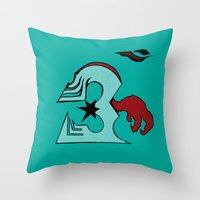 infamous Throw Pillows featuring inFamous ohm by iRa.