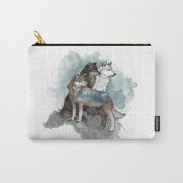 Double Exposure Wolves Carry-All Pouch