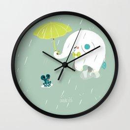 Rainy Elephant Wall Clock