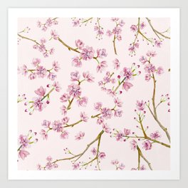Asian Cherry Blossom Art