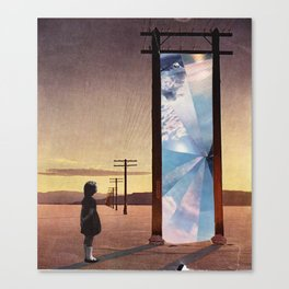 The broken window Canvas Print