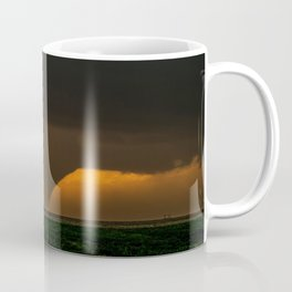 Silhouette - Large Tornado at Sunset in Kansas Coffee Mug