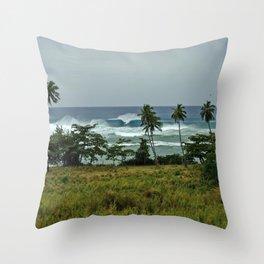 surf rincon pr Throw Pillow
