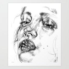 Colored Pencil Portrait Art Print