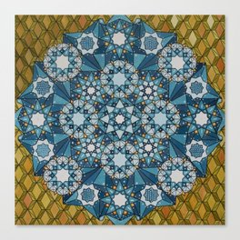 blue geometry  Canvas Print