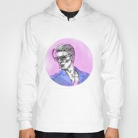 bowie Hoodies featuring Bowie  by Lucy Schmidt Art